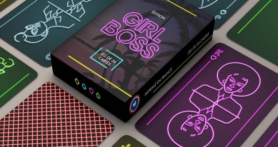 """projet école design graphique et digital : Jeu de cartes """"Girl Boss"""""""