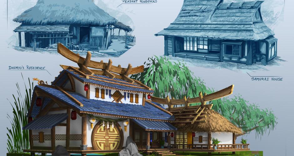 projet école cinéma d'animation 3d & vfx : Demeure japonaise
