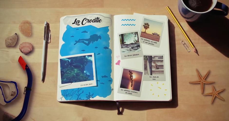 projet école design graphique et digital : Carnet de voyage