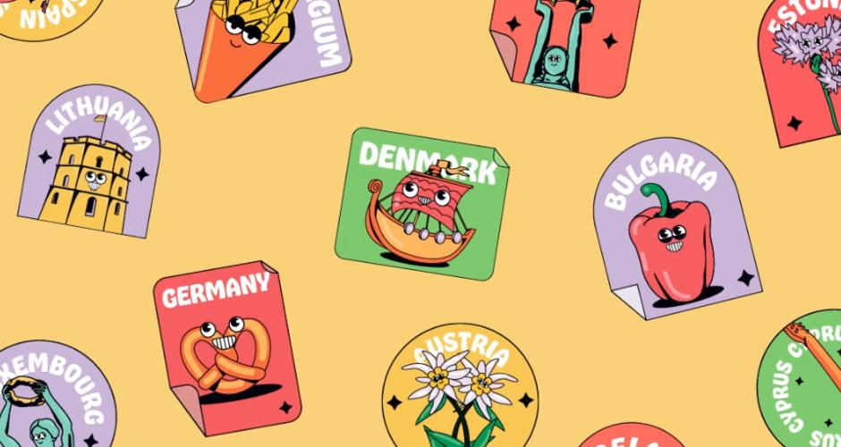 projet école design graphique et digital : Des stickers sur ma valise