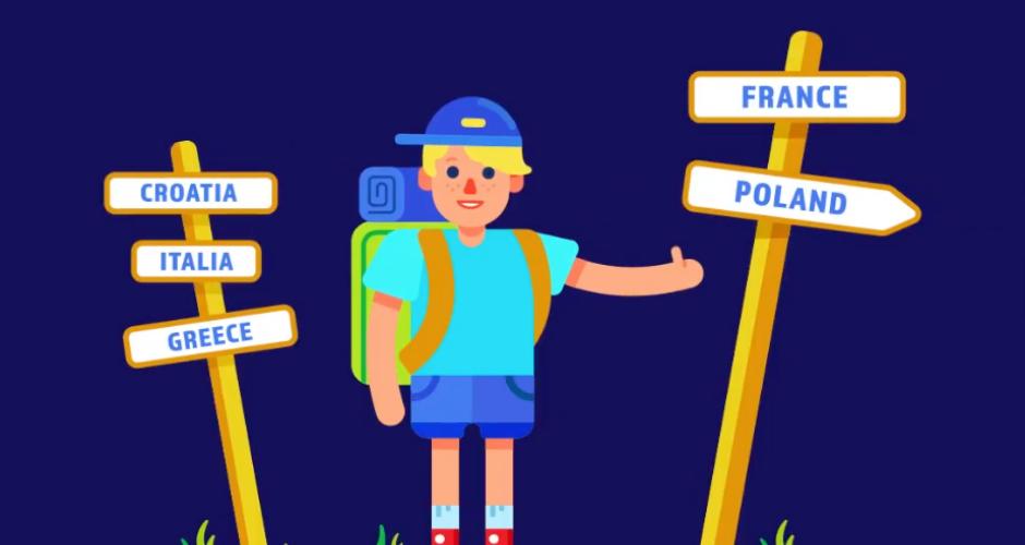 projet école design graphique et digital : Euroscope