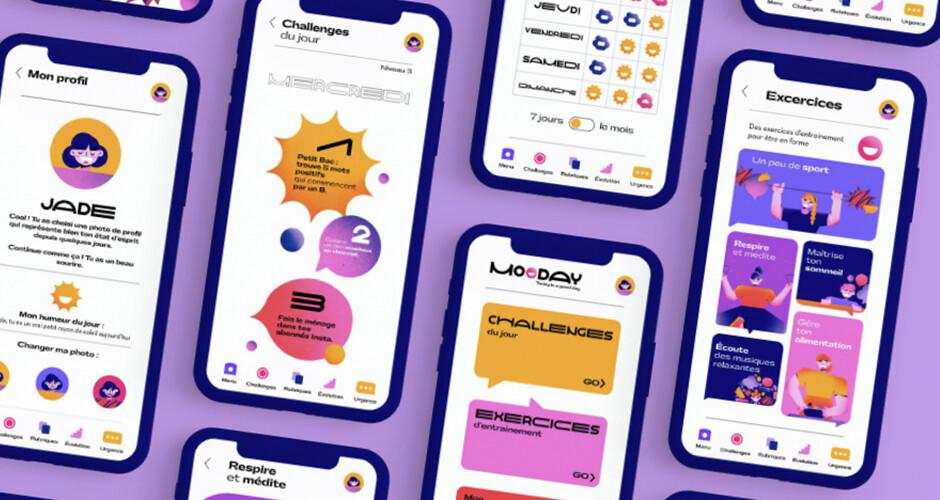 projet école design graphique et digital : Mooday