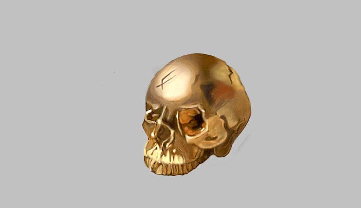 Le crâne : projet classe préparatoire en arts appliqués
