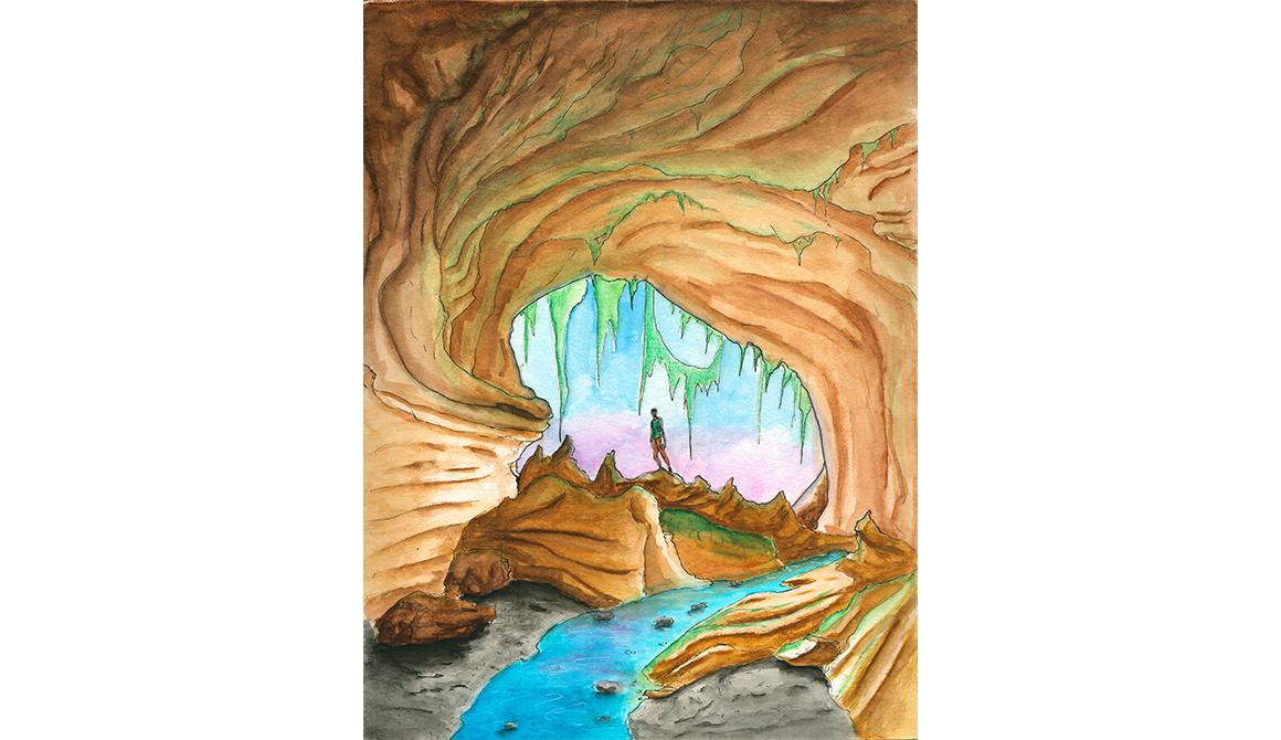 Caverne : projet classe préparatoire en arts appliqués