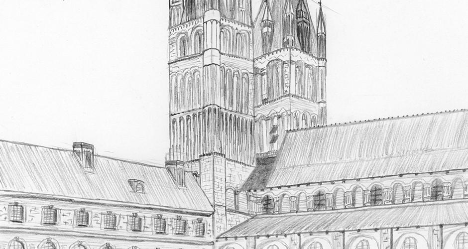 projet école classes préparatoires : Cloître de l'abbaye aux Hommes de Caen
