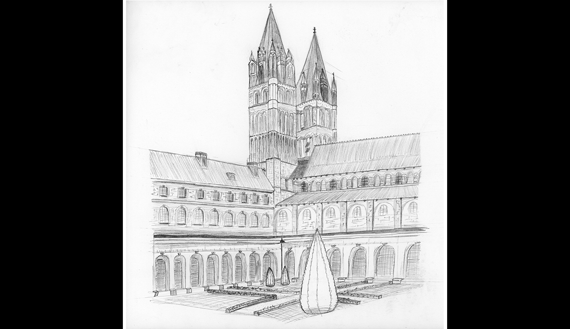 Cloître de l'abbaye aux Hommes de Caen : projet classe préparatoire en arts appliqués