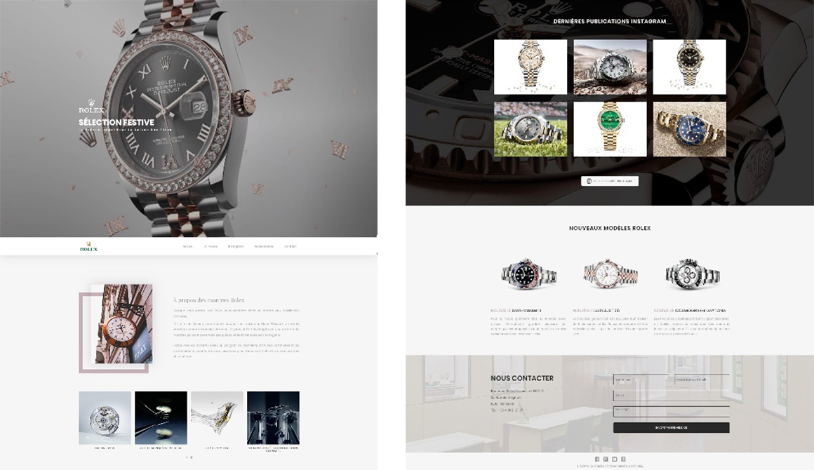 Montre de luxe : projet bachelor design graphique et multimédia