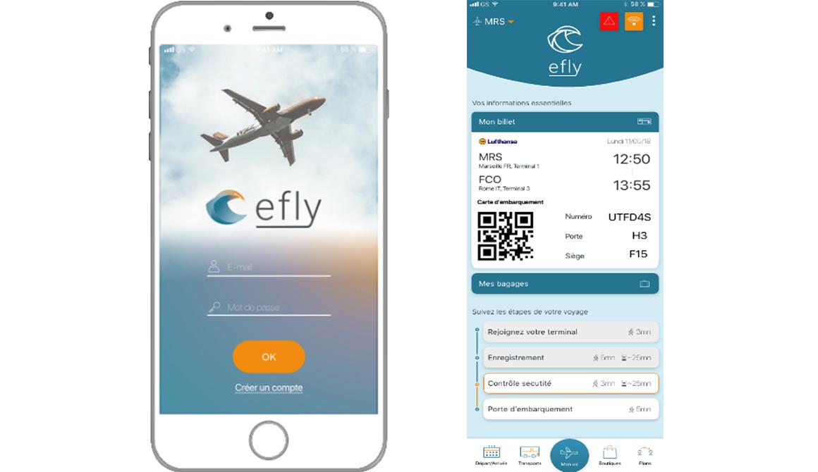 Efly : projet programme designer graphique et digital – bachelor