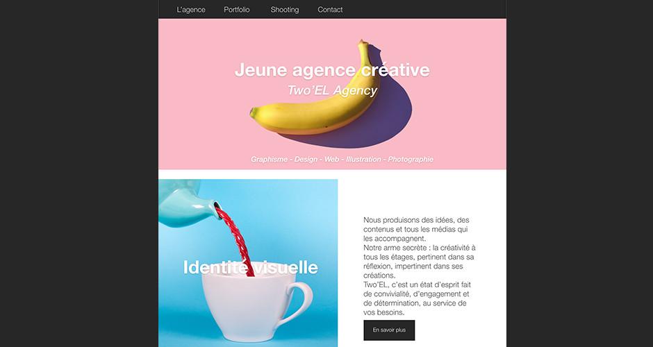projet école design graphique et digital : Home page