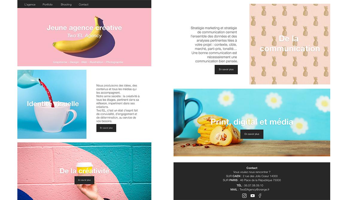 Home page : projet bachelor design graphique et multimédia