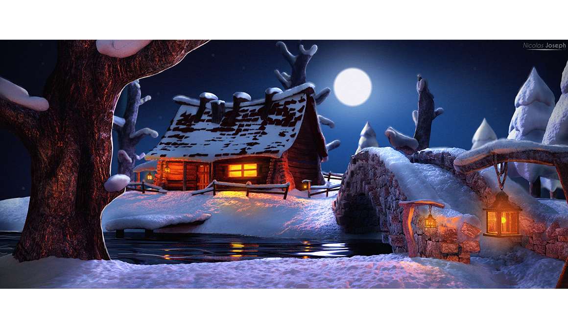 La cabane : projet bachelor animation - 3d vfx & jeux vidéo / game art