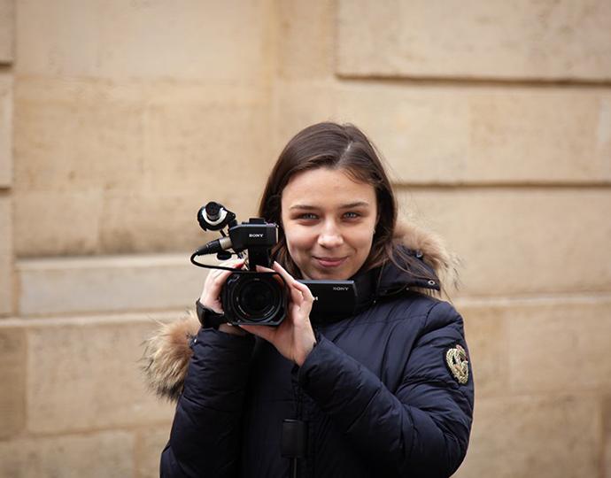 Étudiants Brassart - formation cinéma : tournage d'un clip