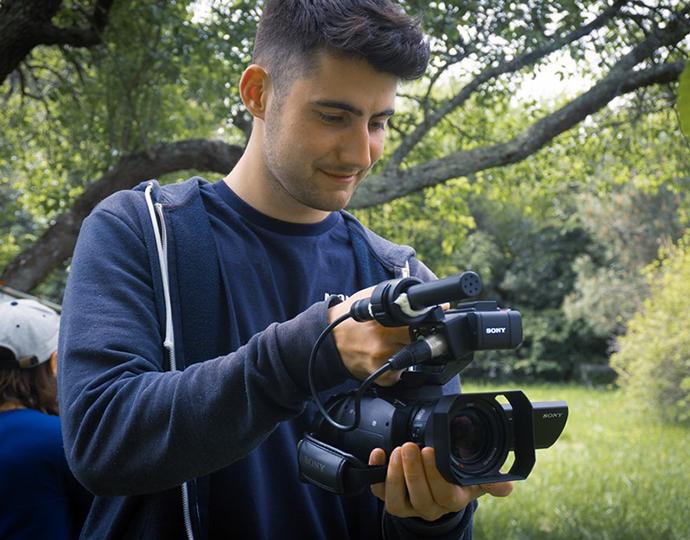 Étudiants prépa cinéma en plein tournage de clip