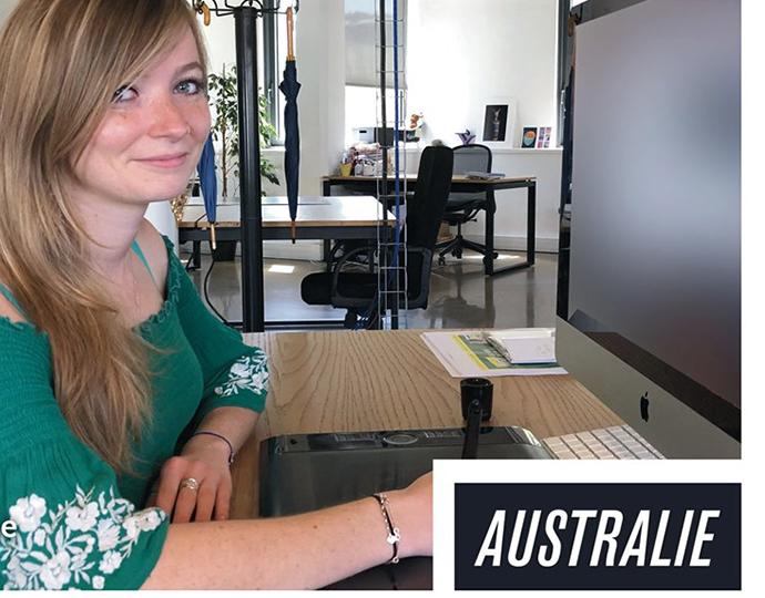 étudiant du bachelor design graphique multimédia de Brassart en stage chez Ausrtralie