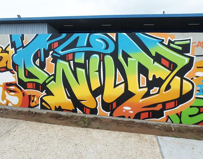 Illustration street art de Kevin Le Gall : étudiant design graphique école Brassart